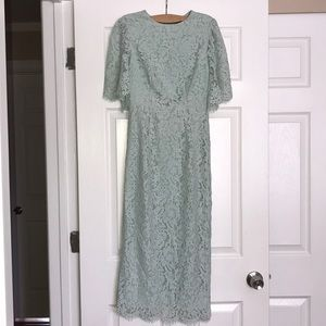 ASOS Mint Lace Sheath Dress 2